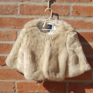 Gap faux fur crop jacket